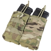 Double M4/M16 open top mag pouch-Multicam