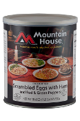 Mt. House Scrambled Eggs w/Ham & Peppers #10 Can - Case of Six